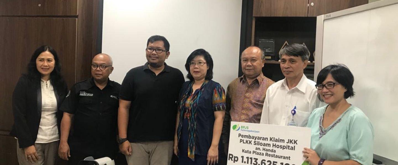 JKK, BPJS Ketenagakerjaan Denpasar Bayarkan Klaim1,1 Miliar