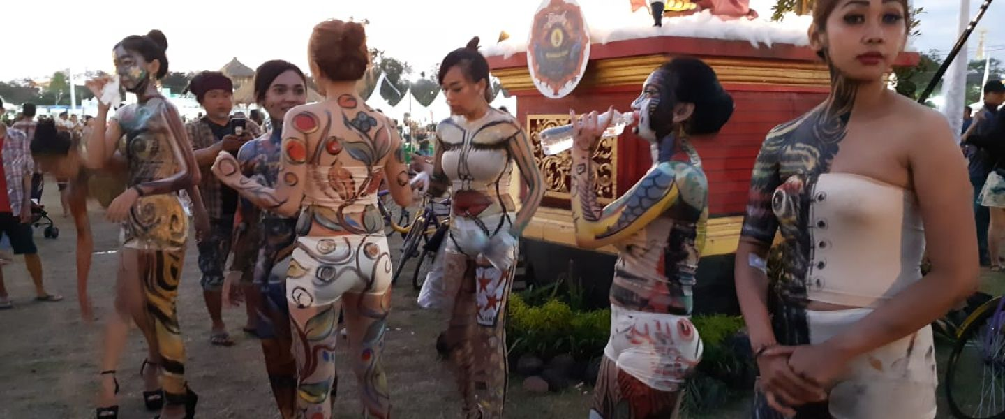 Boost SVF Tampilkan Atraksi 13 Model Body Painting